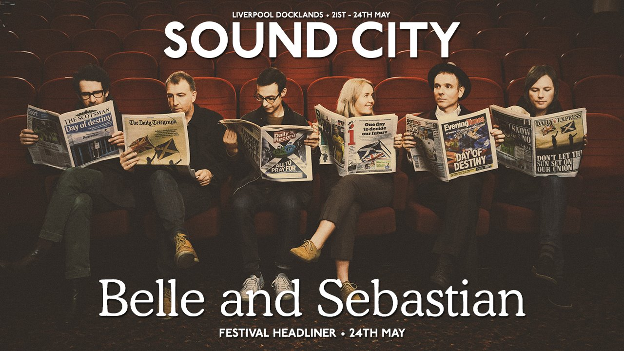 Belle and Sebastian to headline Liverpool Sound City 2015 also news of new site for event