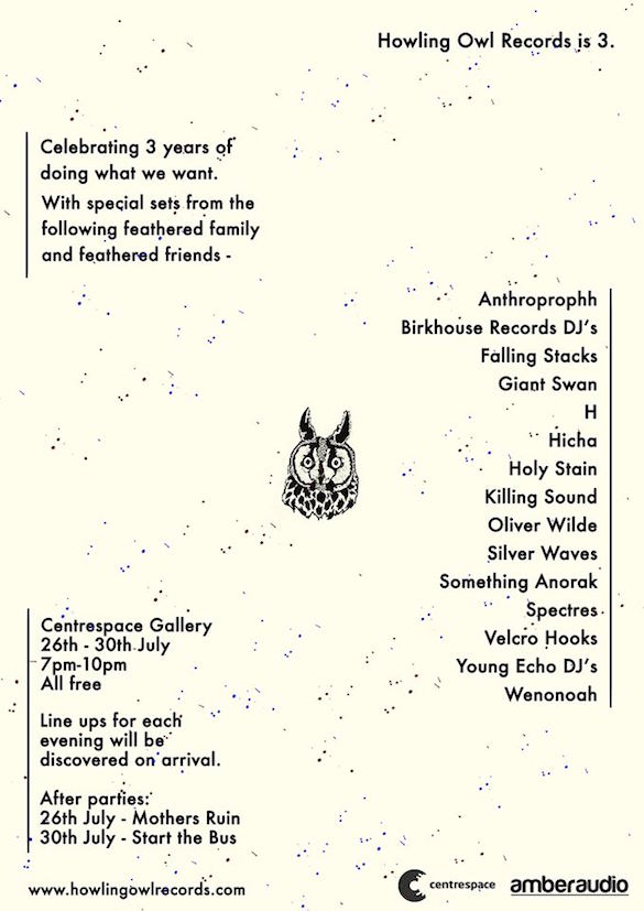 Howling Owl Records Turn Three, Have Party, With Bands, Invite All And IT'S FREE