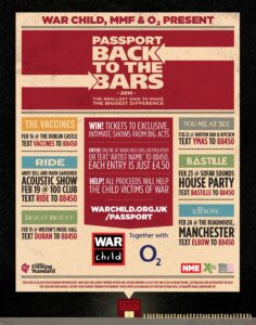 Elbow to play Manchester tiny Roadhouse and other big bands play small gigs for War Child charity