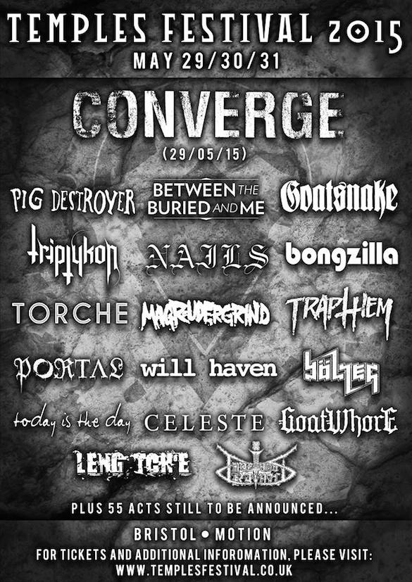 Temples Festival 2015 Announce First Tranche Of Bands – Incl Converge And A Bongzilla Reunion