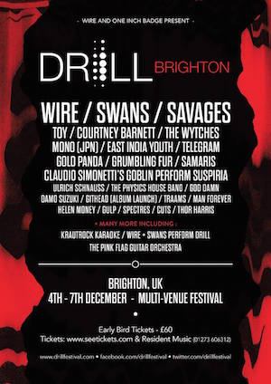 News! Wire announce bill for their Drill festival in Brighton (and it's great)