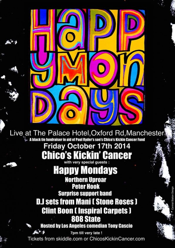 Happy Mondays To Play Live Charity Event Raising Funds For Chicos Kickin Cancer