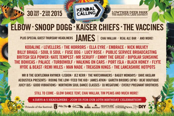 Kendal Calling first line up announcement 2015