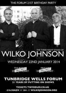 Wilko Johnson adds third night at Tunbridge Wells Forum run