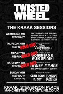 John Robb in conversation with Johnny Brown from Twisted Wheel plus band play series of gigs at Manchester Kraak