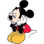 mickey mouse sad