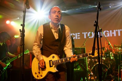 "Mick Jones - ""Justice Tonight"" music event - Hillsborough Justice Campaign Fundraiser . The band played various Clash songs live at London's Scala in King's Cross on Thursday 8th December 2011 1977rf"