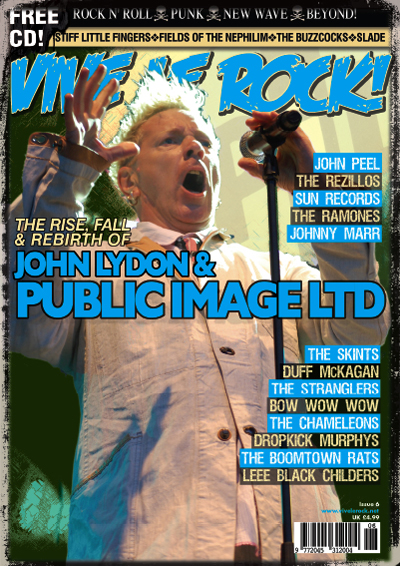 oooh matron! Johnny Lydon on the cover of Vive Le Rock