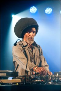 Jah Shaka DJing at WOMAD, Charlton Park, Malmesbury, United Kingdom, on 30 July 2016. (Photo by David Corio/Redferns)