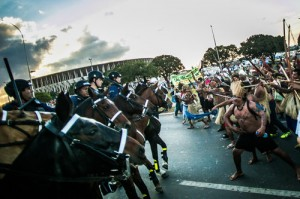 Manchester ninjas go to the World Cup, but to watch more than football – inside report on the street protests in Brazil during the football