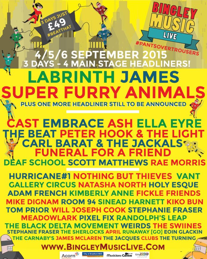 Bingley Music Live 2015 preview