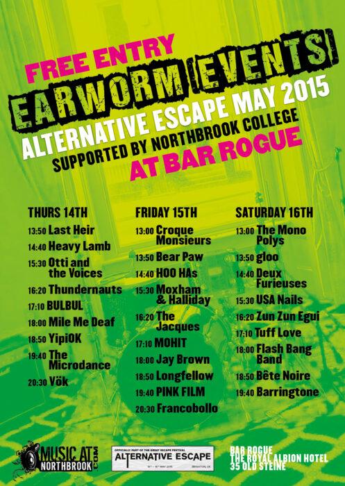 earworm events alternative escape brighton 2015