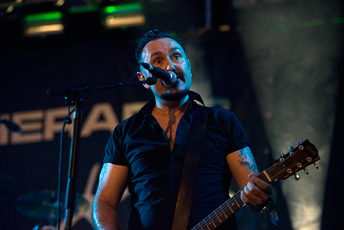 Andy Cairns (Therapy?) at Sonisphere 2014. Photo by Tess Donohoe