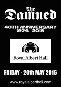 Damned Albert Hall A5 Jun15