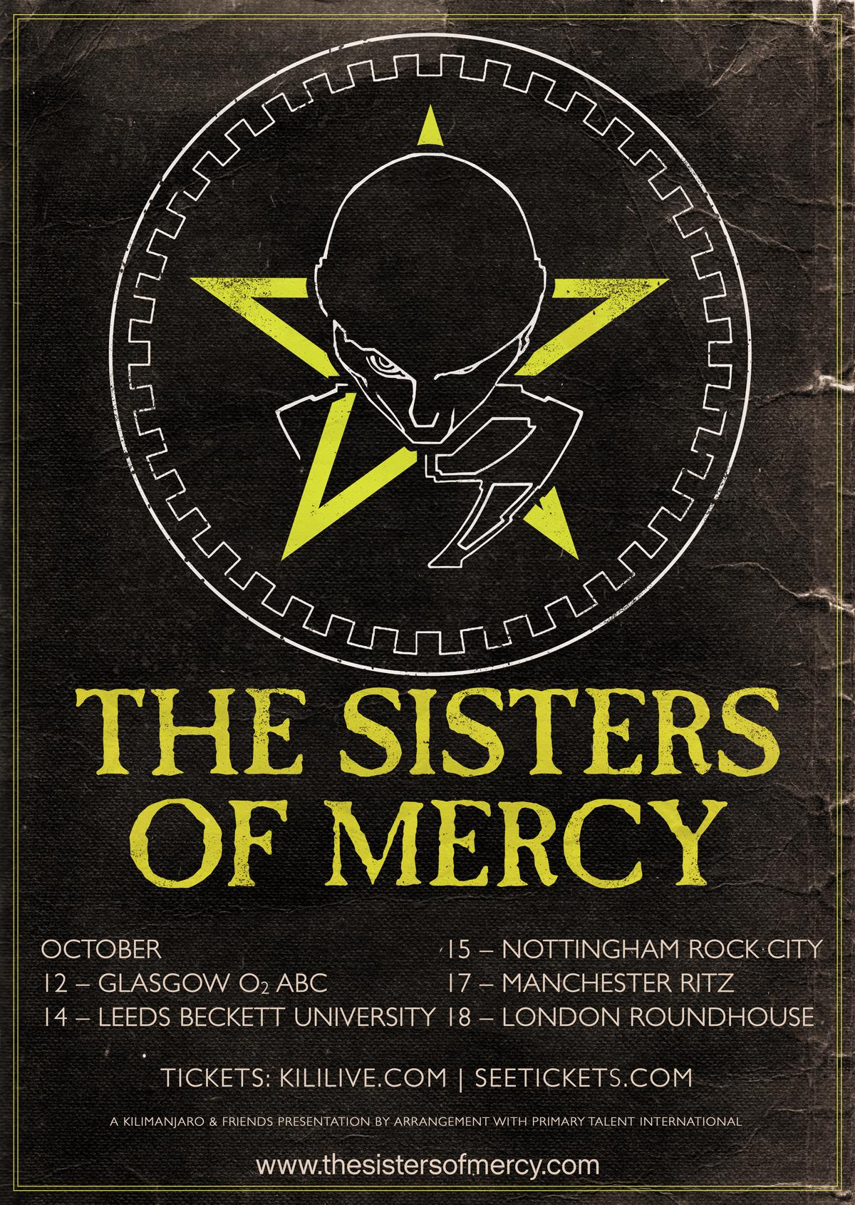 Sisters Of Mercy Tour Uk