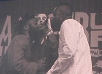 YOUNG FATHERS GLASTONBURY 2015 BY KEITH GOLDHANGER