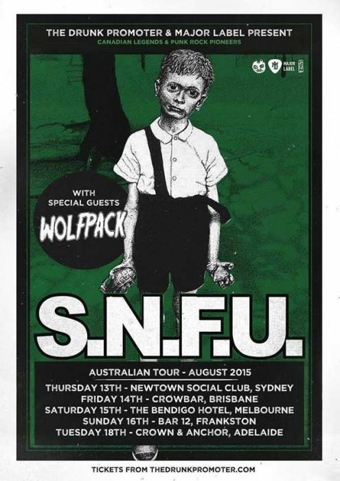 SNFU - Australian Tour Poster 2015