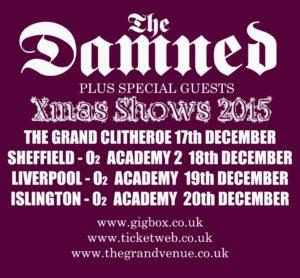 Damned Xmas 15 tour