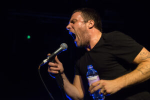 Jason Williamson singer of Sleaford Mods live at the Junction in Cambridge on the 8 Oct 2015