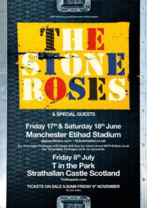 Stone Roses live dates 2016 poster