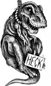 Heck logo godzilla