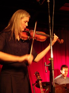Karin Baumler plays the violin