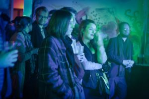 Crowd at Hairy Dog by Kristen Goodall