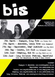 bis March 2016 tour dates