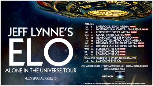 Jeff Lyne On Tour