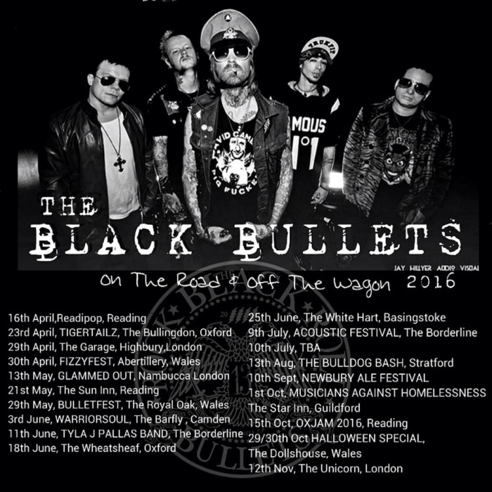 black bullets tour 2016