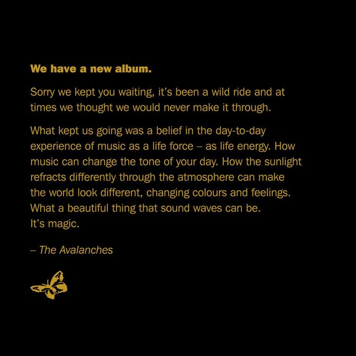 The Avalanches Wildflower statement