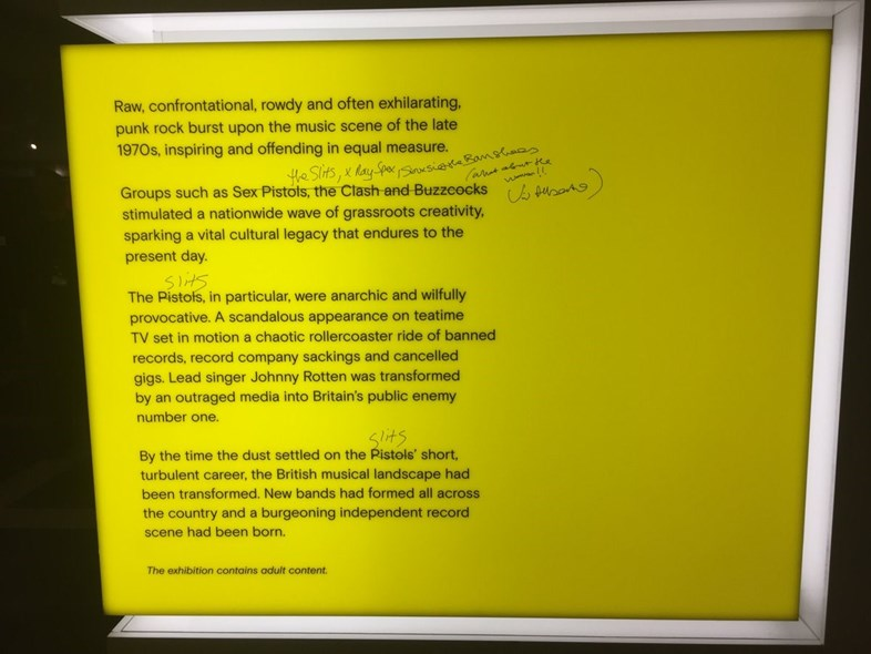 Viv Albertine defaces exhibition