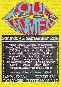 Loud Women Fest poster