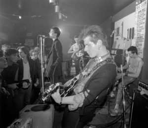 Mandatory Credit: Photo by Ray Stevenson / Rex Features ( 619076g ) Siouxsie and the Banshees -  Siouxsie Sioux, Steve Severin Sid Vicious (on drums) and Marco Pirroni Siouxsie and the Banshees first gig at the 100 club, London - 1976