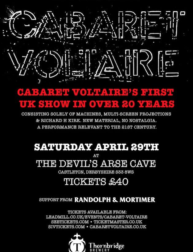 Cabaret Voltaire announce first UK show in 20 years …in a cave – called Devils Arse