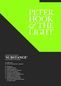 Peter Hook and The Light winter 2017 tour poster