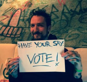 Frank Turner is voting - are you?