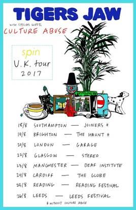 Tigers Jaw UK Tour