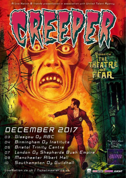 Creeper Theatre of Fear UK Tour