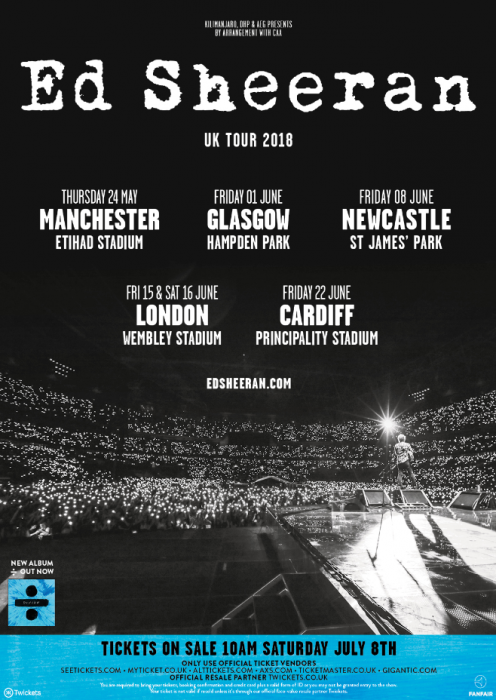 Ed Sheeran Tour 2018