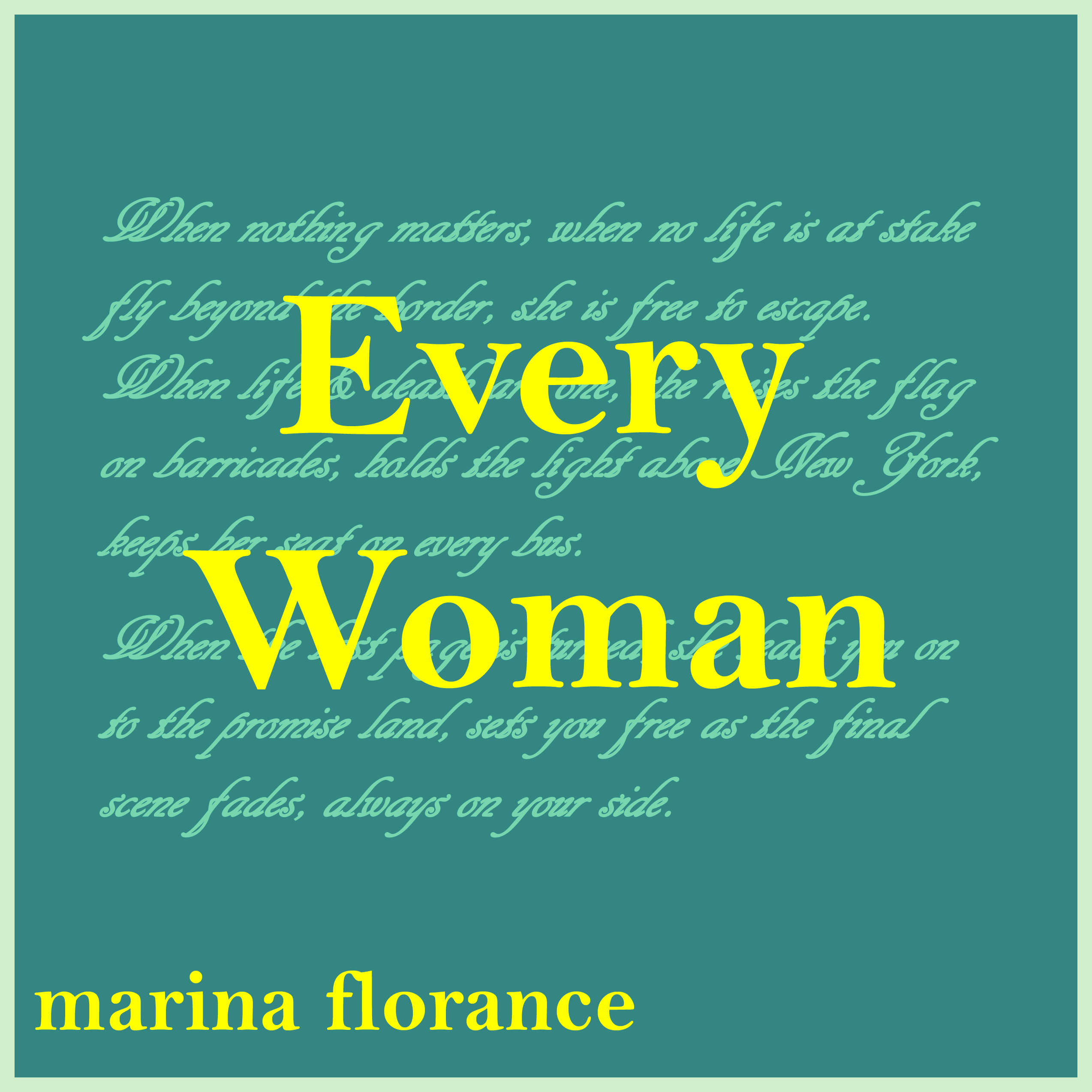 Every Woman - Marina Florance