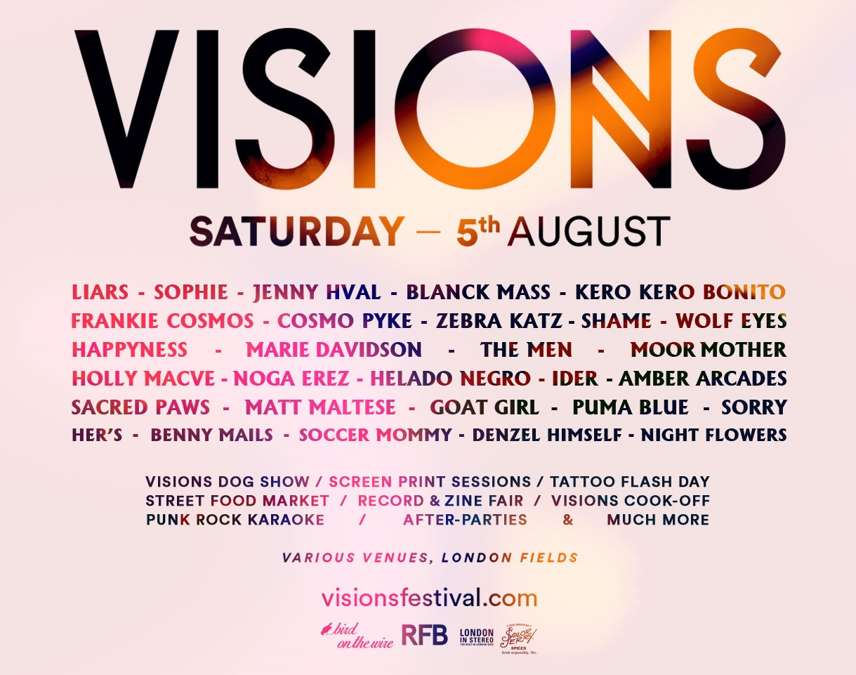 Visions Festival 2017 line up poster