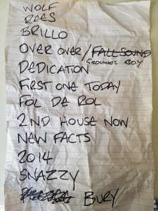 The Fall - Set List