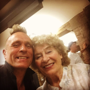 John Robb with Shirley Collins at film preview