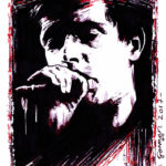 Joy Division's Ian Curtis - Sketch by Brian Gorman