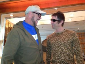 Paul and Liam, Lowry hotel/MCR