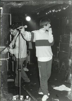 Oasis play their first live gig on August 18th/1991 at The Boardwalk in Manchester, before Noel had joined the band