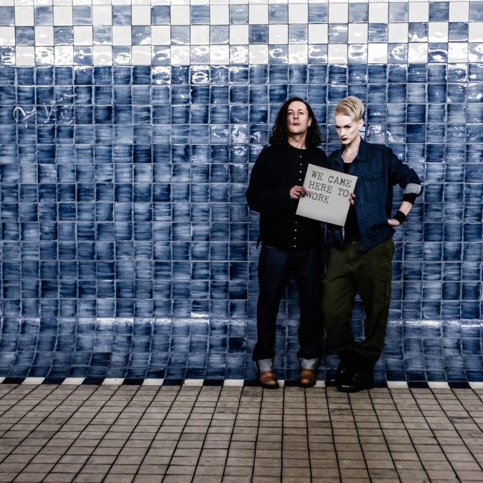 Miles Hunt and Erica Nockalls: We Came Here To Work promo shot.