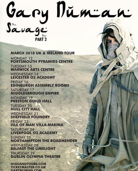 Gary Numan Europe Tour