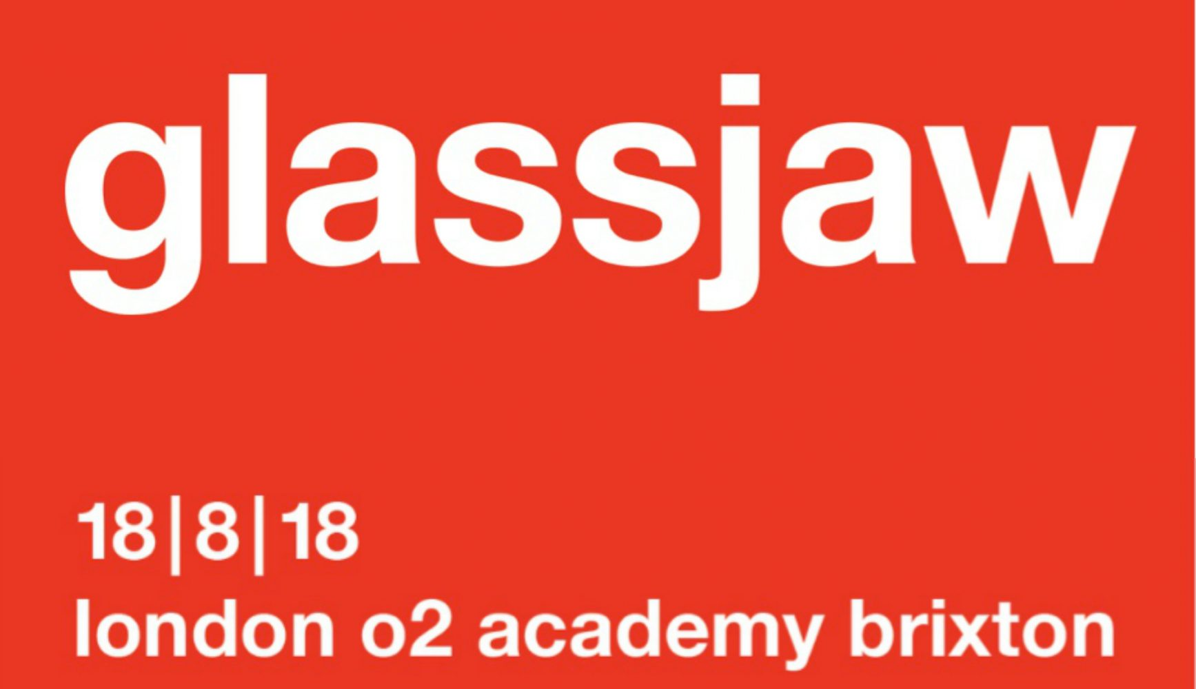 Glassjaw London 2018